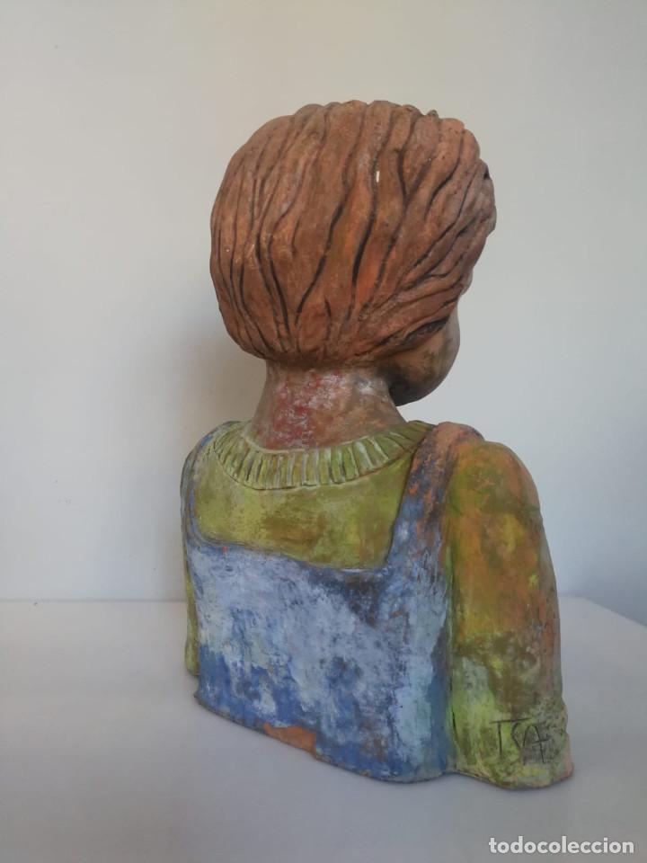 Arte: Escultura de terracota busto niño Firmada y fechada 1996 - Foto 7 - 193761676