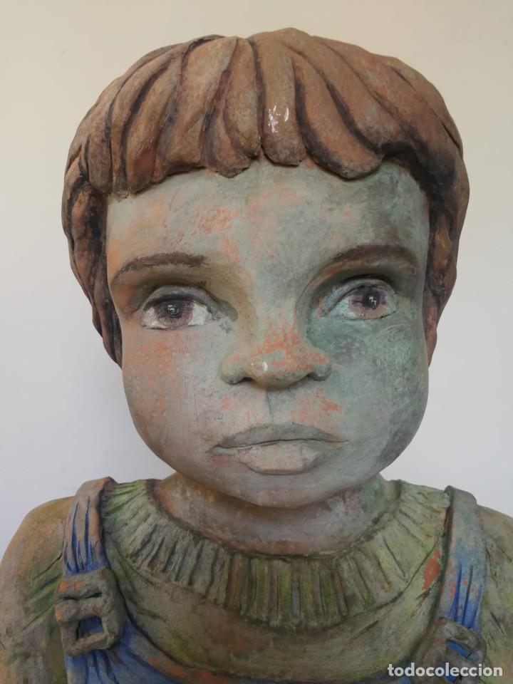 Arte: Escultura de terracota busto niño Firmada y fechada 1996 - Foto 11 - 193761676