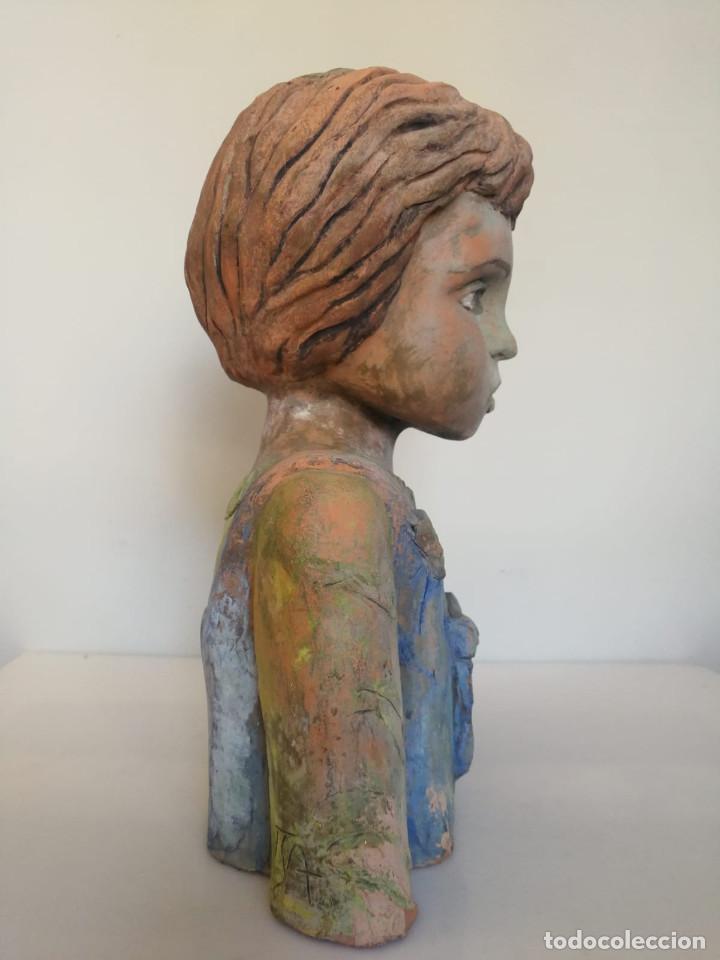 Arte: Escultura de terracota busto niño Firmada y fechada 1996 - Foto 12 - 193761676