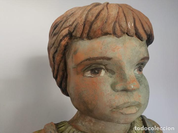 Arte: Escultura de terracota busto niño Firmada y fechada 1996 - Foto 13 - 193761676