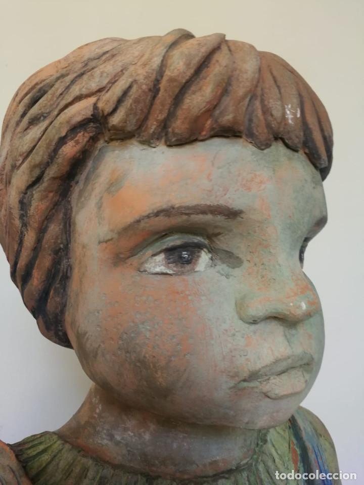 Arte: Escultura de terracota busto niño Firmada y fechada 1996 - Foto 14 - 193761676