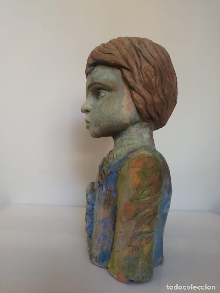 Arte: Escultura de terracota busto niño Firmada y fechada 1996 - Foto 17 - 193761676
