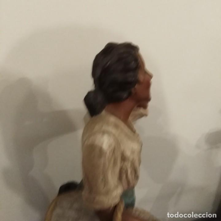 Arte: Antigua pareja de figuras de barro granadino, cenacheros malagueños años 20 - Foto 14 - 193868800