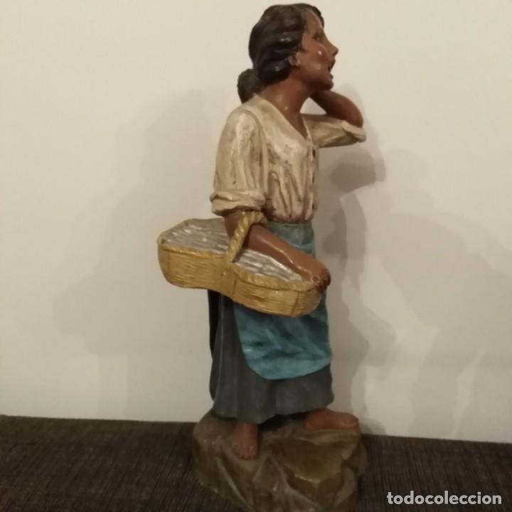Arte: Antigua pareja de figuras de barro granadino, cenacheros malagueños años 20 - Foto 15 - 193868800