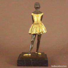 Arte: FIGURA DE BRONCE. BAILARINA DE BALLET LA PETITE DANSEUSE- DORADO. Lote 193986896