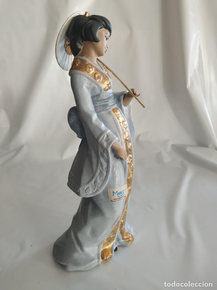 Arte: Escultura Gueisha de Porcelana - Foto 4 - 194003060