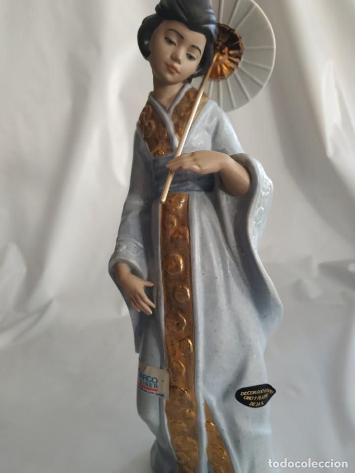 Arte: Escultura Gueisha de Porcelana - Foto 5 - 194003060