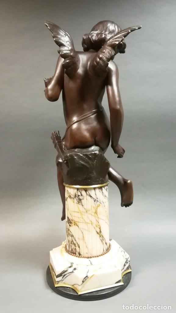 Arte: FIGURA DE BRONCE REGULAR NIÑA ANGEL, AMOUR PAPILLON - Foto 3 - 194006847