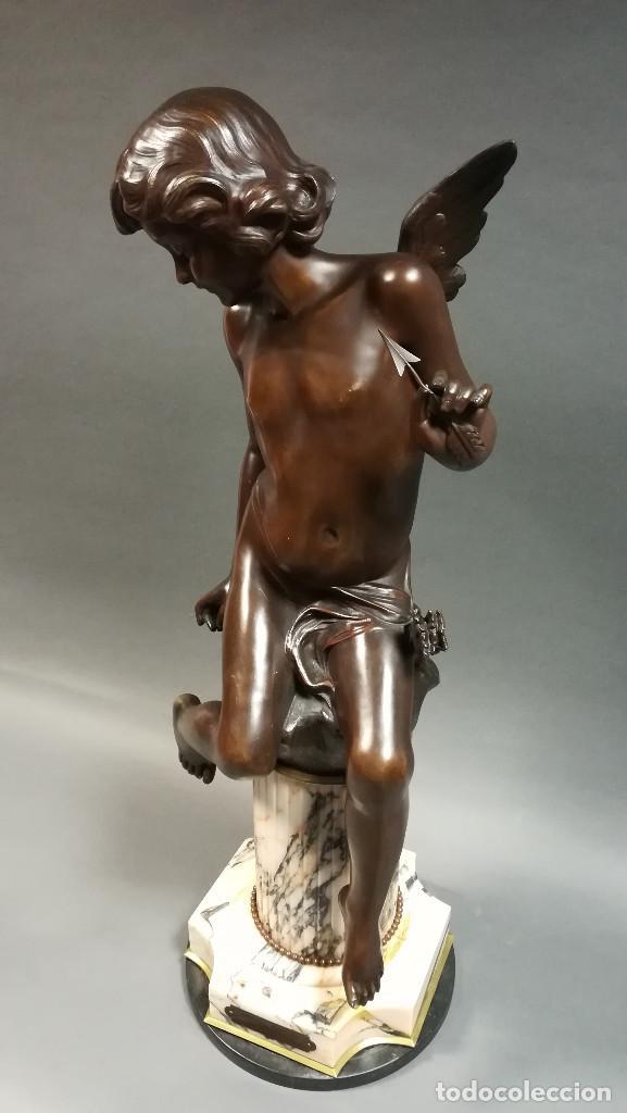 Arte: FIGURA DE BRONCE REGULAR NIÑA ANGEL, AMOUR PAPILLON - Foto 8 - 194006847