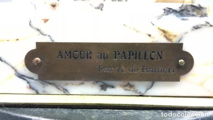 Arte: FIGURA DE BRONCE REGULAR NIÑA ANGEL, AMOUR PAPILLON - Foto 12 - 194006847