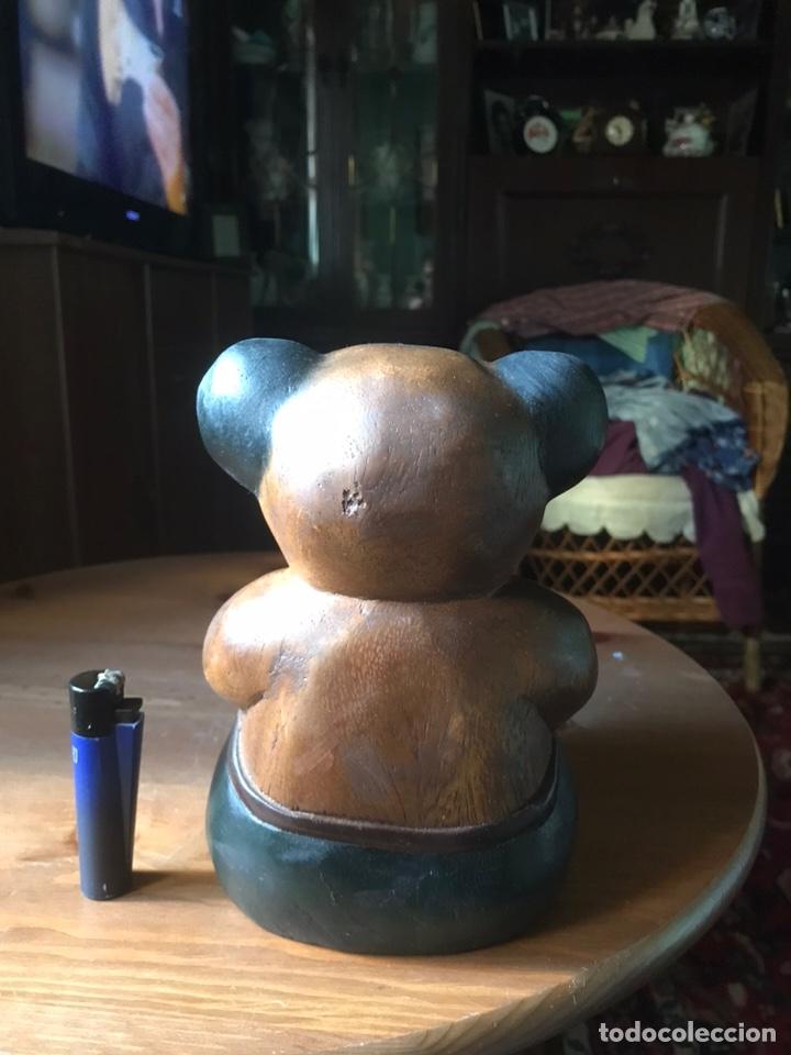 """Arte: Talla de madera """" oso con caja de regalo """" , años 50 - Foto 4 - 194117951"""