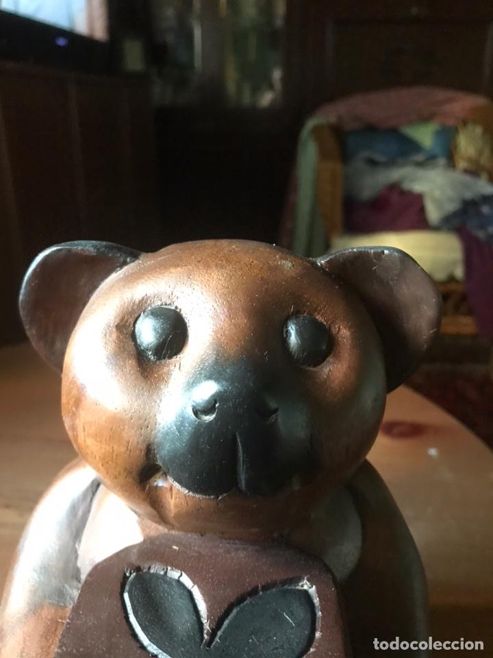 """Arte: Talla de madera """" oso con caja de regalo """" , años 50 - Foto 7 - 194117951"""