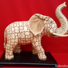 Arte: ESCULTURA ELEFANTE HUESO DE VACA ANIMAL SAGRADO, CIRCA 1900. MAGNÍFICA TALLA. 37.5 CMS ALTO.. Lote 194156213