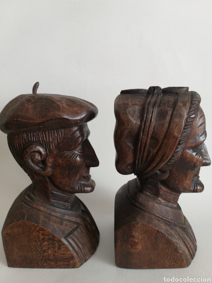 Arte: Apollalibros de ancianos tallados de José Alberdi - Foto 2 - 194168820