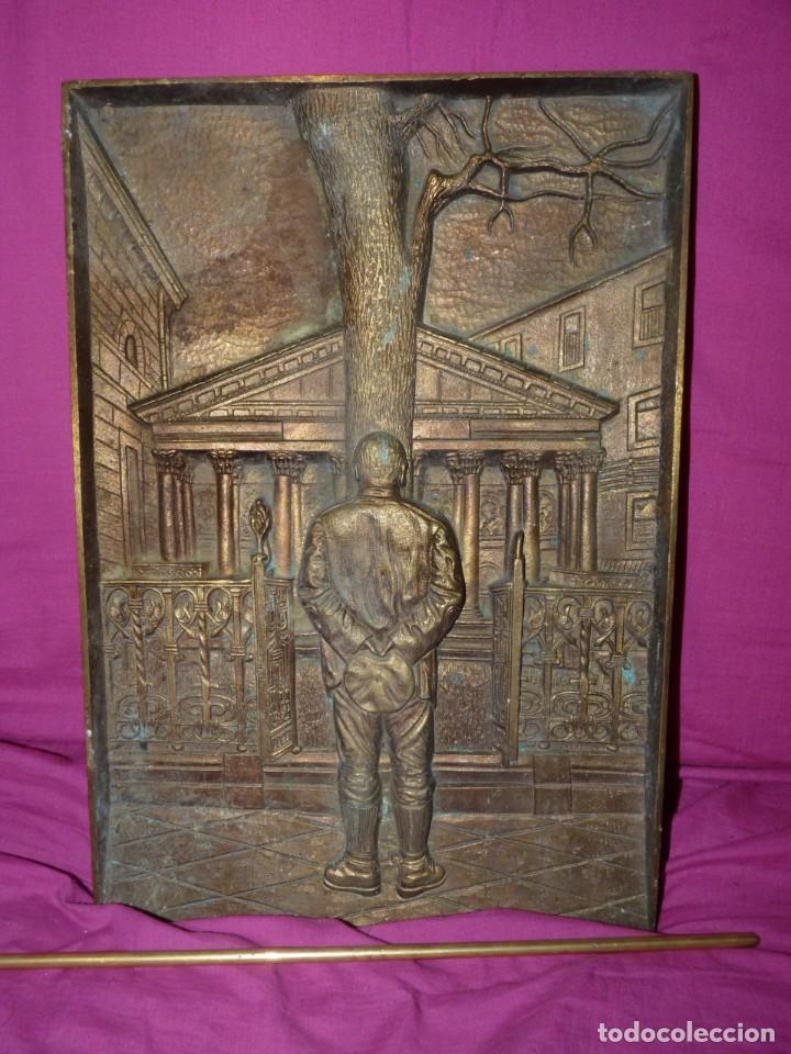 GRAN BRONCE CASA JUNTAS GERNIKA ÁRBOL GUERNICA GUDARI JURANDO LEALTAD PUEBLO VASCO PIEZA COLECCIÓN (Arte - Escultura - Bronce)