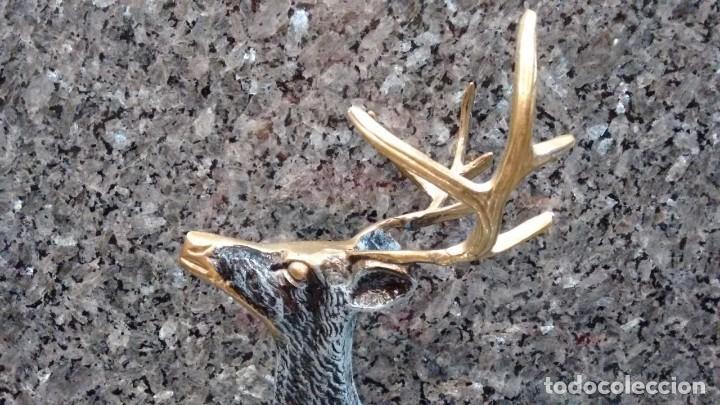 CIERVO LATÓN BRONCE ESMALTADO (Arte - Escultura - Bronce)