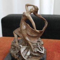 Arte: ESCULTURA MIGUEL SENSERRICH BRONCE PEANA MARMOL NEGRO VETEADO. Lote 194239326