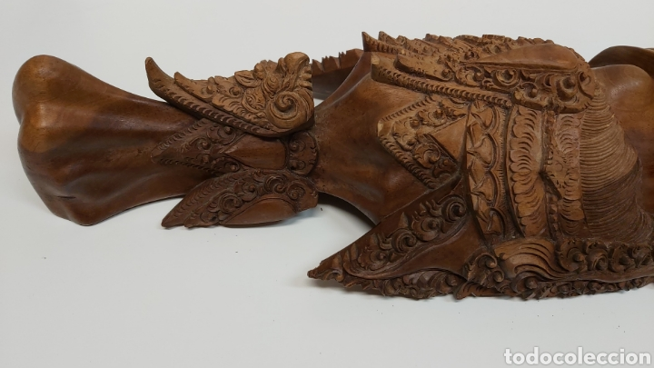 Arte: Gran mascara 80cm Madera Bali - Foto 10 - 194270535