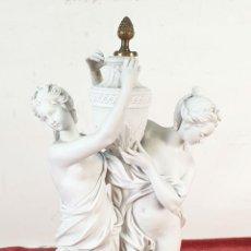 Arte: PAREJA DE VENUS. ESCULTURA EN PORCELANA. BASE DE BRONCE. SIGLO XVIII-XIX. Lote 194282847