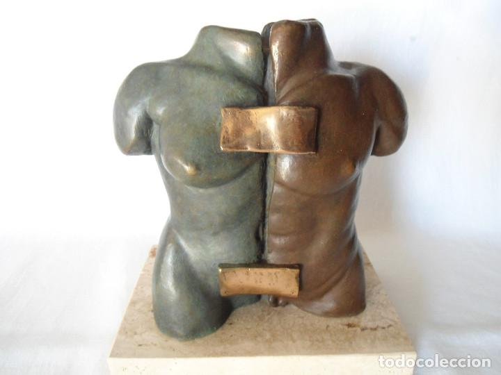 ESCULTURA BRONCE DUO TORSO MUJER-HOMBRE DE FILI PLAZA (Arte - Escultura - Bronce)