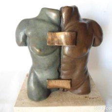 Arte: ESCULTURA BRONCE DUO TORSO MUJER-HOMBRE DE FILI PLAZA. Lote 194288508