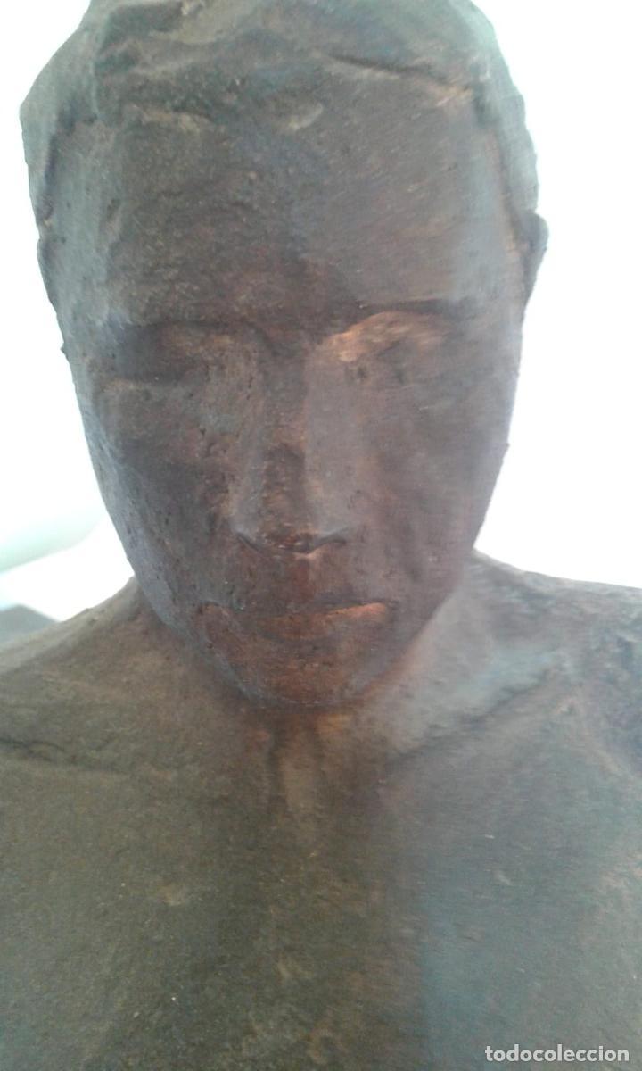 Arte: Magnifica figura masculina en material refractario policromado: El joven Marc. Mitad del siglo 20 - Foto 8 - 194333229