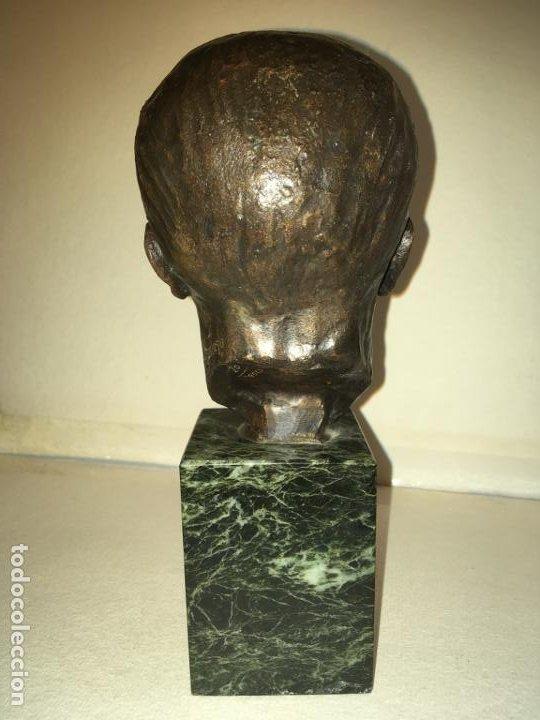 Arte: Escultura busto Francisco Franco por Santiago de Santiago,20 de mil. año 1982. 13 cms.Hispania Arte - Foto 2 - 194334557