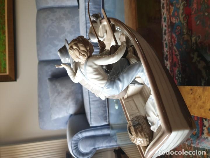 Arte: Lladró porcelana barca Paloma abuelo y niño - Foto 6 - 194348833