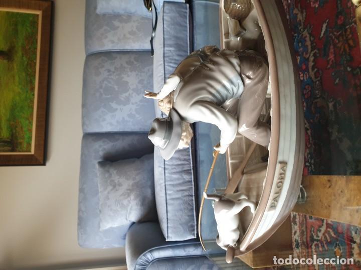 Arte: Lladró porcelana barca Paloma abuelo y niño - Foto 7 - 194348833