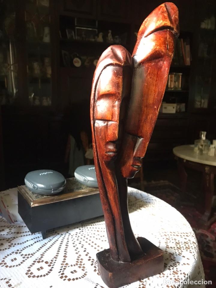 Arte: Escultura de madera de caoba, influencias Africanas de 1991 - Foto 10 - 194393410