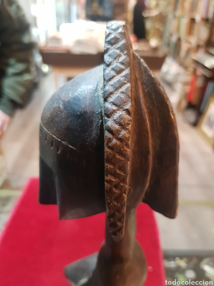 Arte: Antigua talla africana u objeto bella patina - Foto 9 - 194521221