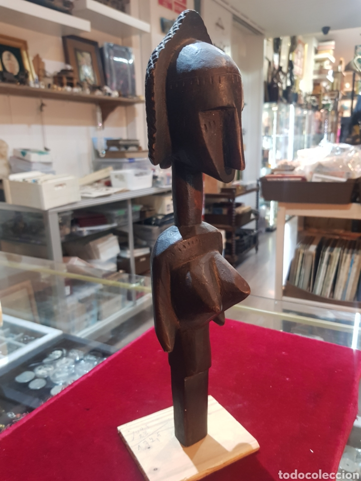 ANTIGUA TALLA AFRICANA U OBJETO BELLA PATINA (Arte - Escultura - Madera)