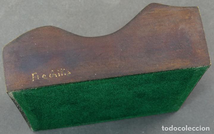 Arte: Cenicero en bronce dorado pulido Lorenzo Frechilla sin estrenar en su caja siglo XX - Foto 7 - 194599608