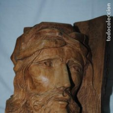 Arte: TALLA DE LA CARA DE CRISTO EN MADERA .. Lote 194622708