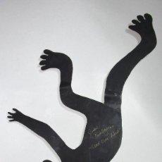 Arte: PRECIOSA ESCULTURA EN HIERRO FIRMADA ARTE POP ART HEAD OVER HEALS BY JUDIÉ XXXX BERLIN. Lote 194640148