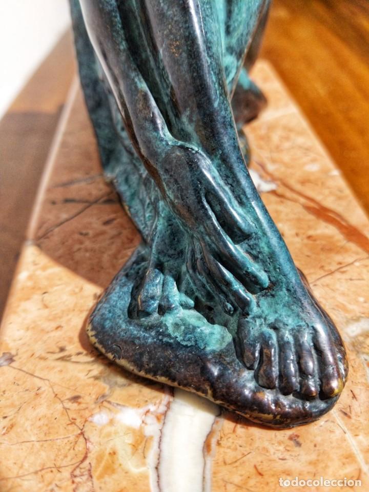 Arte: Juan de Ávalos y Taborda (1911-2006) Art Deco Escultura de Bronce La Coqueta Siglo XX - Foto 3 - 194684718