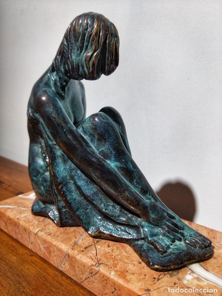 Arte: Juan de Ávalos y Taborda (1911-2006) Art Deco Escultura de Bronce La Coqueta Siglo XX - Foto 10 - 194684718