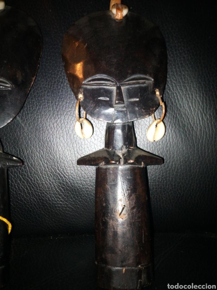 Arte: Pareja figuras africanas ebano - Foto 3 - 194702481
