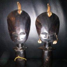 Arte: PAREJA FIGURAS AFRICANAS EBANO. Lote 194702481