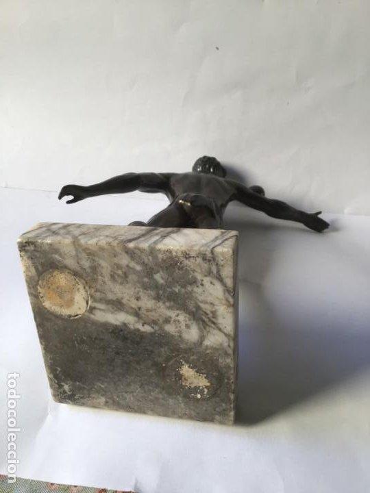 Arte: MARAVILLOSA Y ANTIGUA ESCULTURA ART DECO , DEPORTISTA DESNUDO DE EPOCA - Foto 10 - 194718623