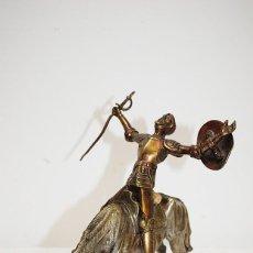 Arte: FIGURA ESCULTURA DE BRONCE DON QUIJOTE DE LA MANCHA. Lote 194754296