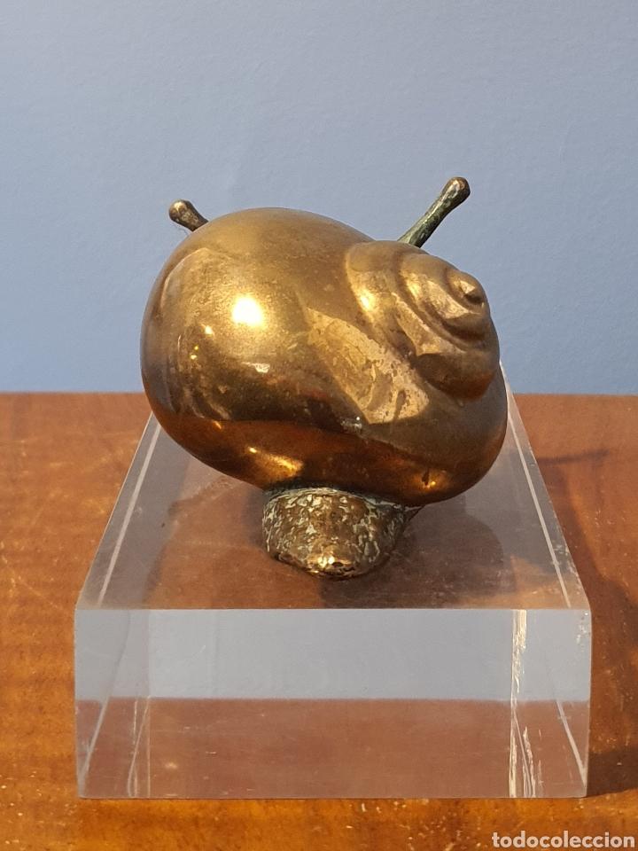 Arte: José Luis Fernandez, preciosa escultura bronce, caracol, numerada y firmada. - Foto 5 - 194766221
