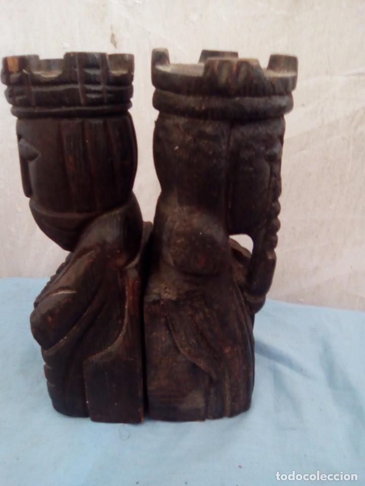 Arte: 2 sujeta libros de madera los reyes - Foto 2 - 194779280