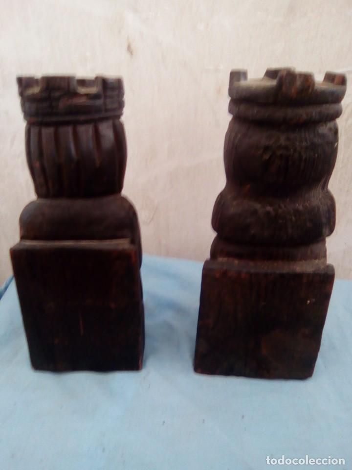 Arte: 2 sujeta libros de madera los reyes - Foto 3 - 194779280