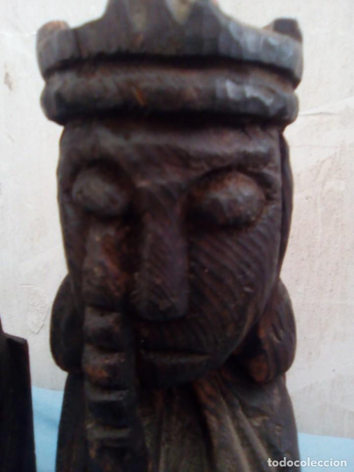 Arte: 2 sujeta libros de madera los reyes - Foto 4 - 194779280
