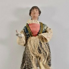 Arte: MUY ANTIGUA MUÑECA 31 CM EN BARRO SIGLO XVIII IMAGENES PARTE DE LA DESCRIPCIÓN. Lote 194876620