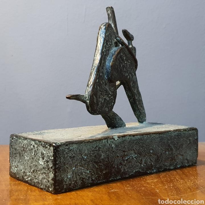 Arte: José Luis Fernandez, rara escultura en bronce médica, firmada en peana. - Foto 4 - 194882206