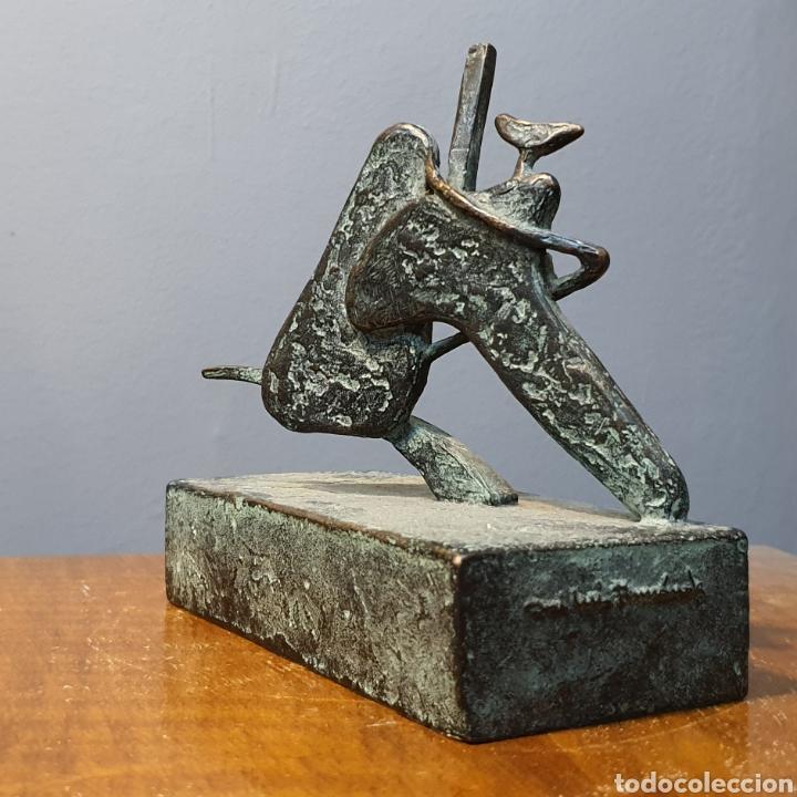 Arte: José Luis Fernandez, rara escultura en bronce médica, firmada en peana. - Foto 6 - 194882206