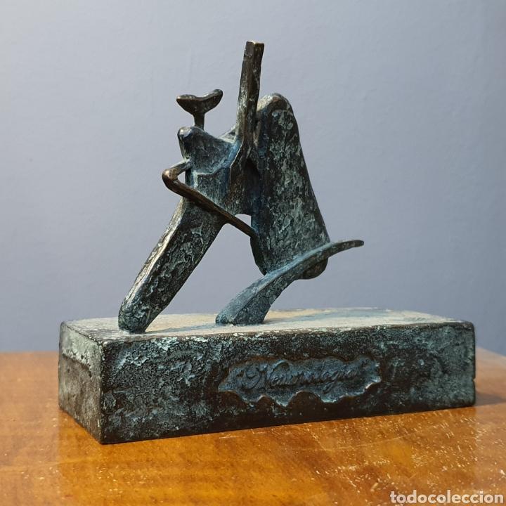Arte: José Luis Fernandez, rara escultura en bronce médica, firmada en peana. - Foto 7 - 194882206