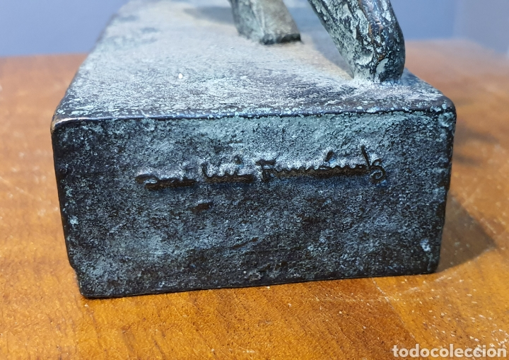 Arte: José Luis Fernandez, rara escultura en bronce médica, firmada en peana. - Foto 8 - 194882206